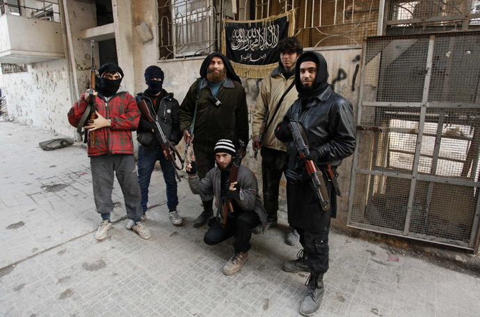 Members of Islamist Syrian rebel group Jabhat al-Nusra. (Reuters)