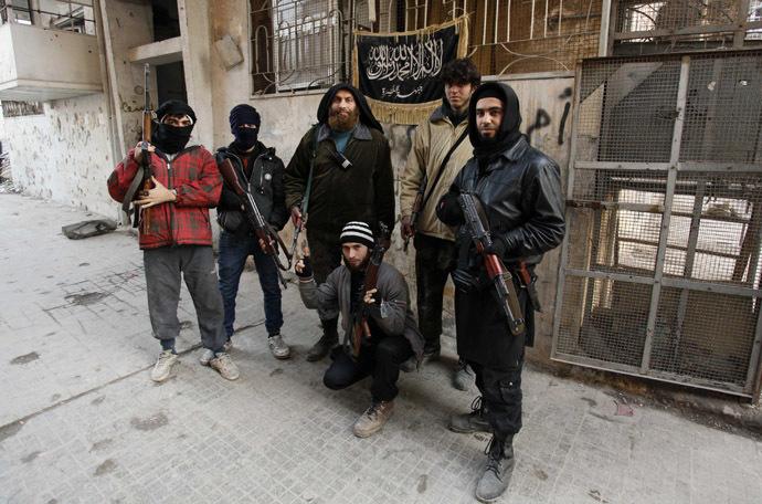 Members of Islamist Syrian rebel group Jabhat al-Nusra. (Reuters)