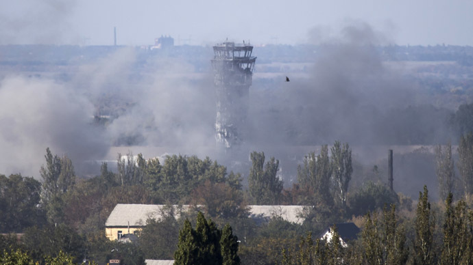 Shells, blasts, rubble: Inside Donetsk airport battle zone (EXCLUSIVE VIDEO)