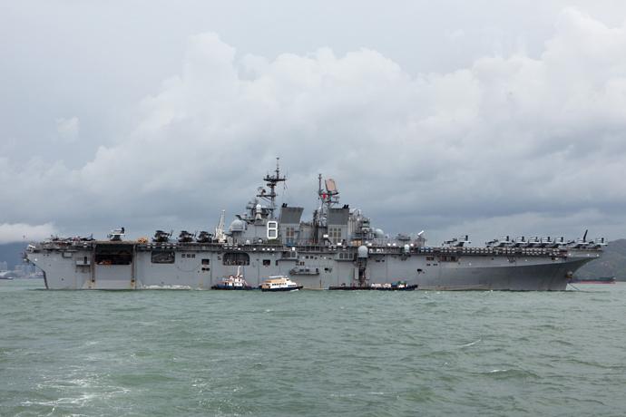 The USS Makin Island ship (AFP Photo / Anthony Wallace)