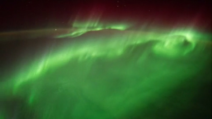 NASA astronaut shares stunning time-lapse videos of polar aurora