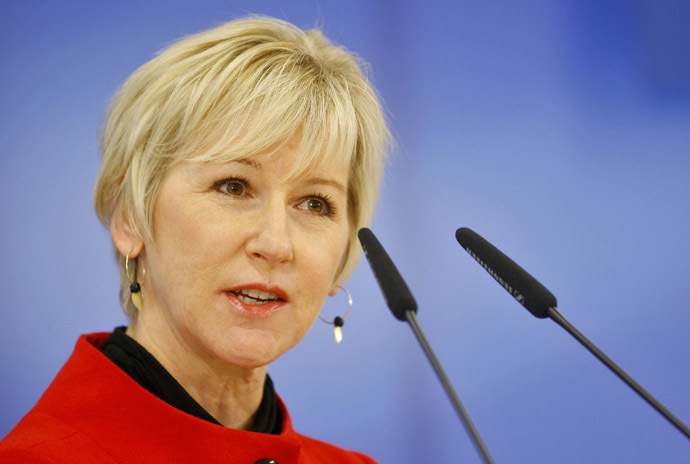Margot Wallström, the Swedish foreign minister (Reuters/Srdjan Zivulovic)