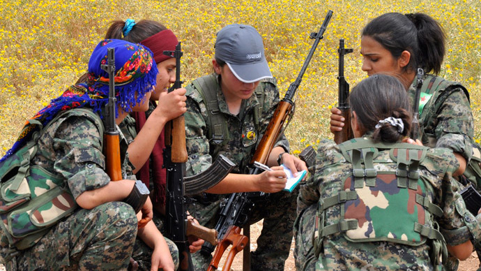 Enemy tactics: Kurdish female suicide bomber 'attacks ISIS jihadists' in Kobane
