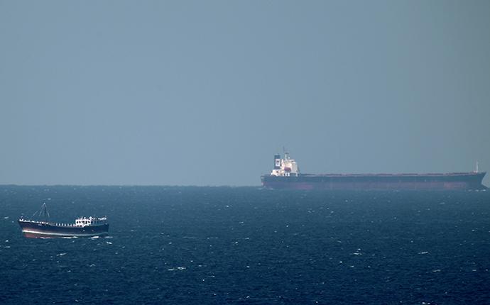 An oil tanker cruises towards the Strait of Hormuz (AFP Photo)