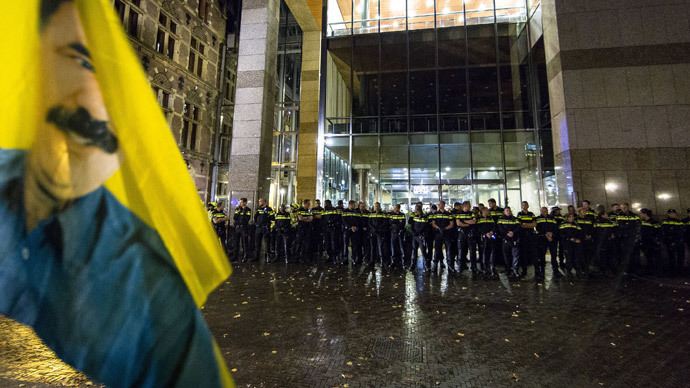 'Stop ISIS!' Kurdish protesters storm Dutch parliament in The Hague (PHOTOS, VIDEO)