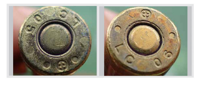 US 5.56 x 45 mm ammunition manufactured in 2005, 2006, and 2007 at the Lake City Army Ammunition Plant, Independence, Missouri, US. The Lake City Army Ammunition Plant is a US Government-owned facility operated by Alliant Techsystems (ATK). (image from www.conflictarm.com)