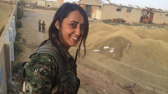 'Sisters in arms': Kurdish women fighters ready 'to send ISIS to hell' (VIDEO)