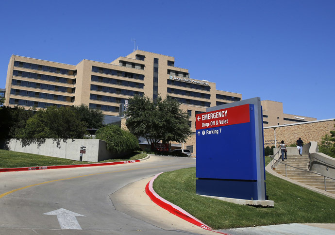 A general view of the Texas Health Presbyterian Hospital in seen in Dallas, Texas, October 4, 2014. (Reuters/Jim Young)