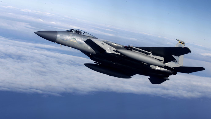 US F-15 fighter jet crashes in eastern England
