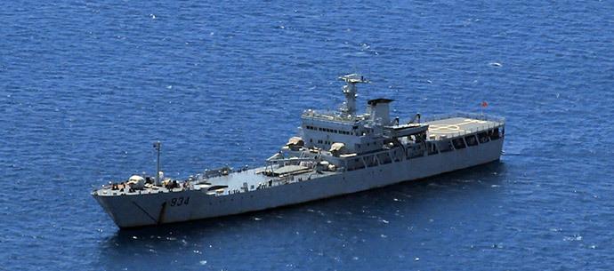 Chinese Landing ship 934 (AFP Photo / Westcom)