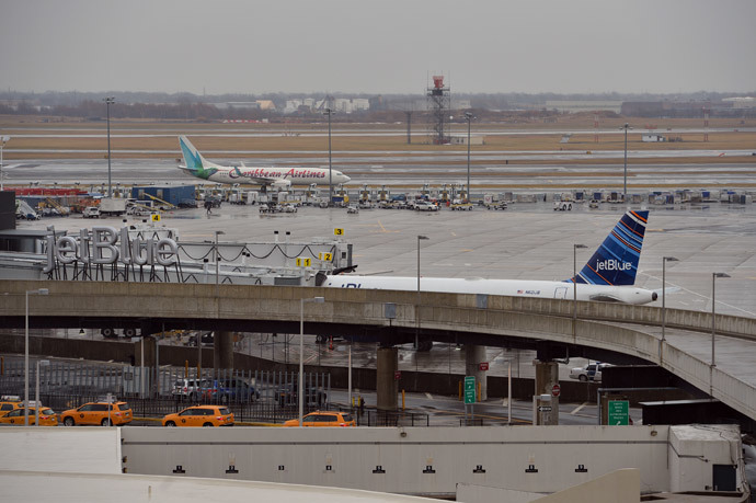 Kennedy International Airport (AFP Photo / Stan Honda)