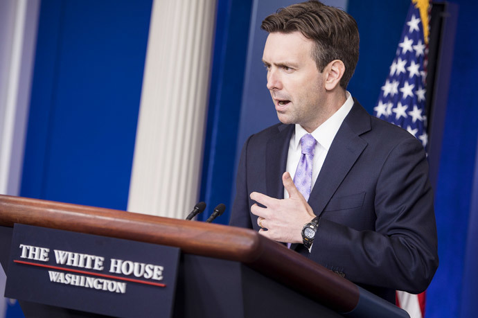 White House Press Secretary Josh Earnest (AFP Photo / Brendan Smialowski)