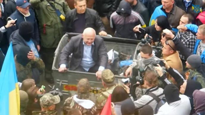 'Almost lynching': Radicals attack Ukrainian officials, throw into trash bins