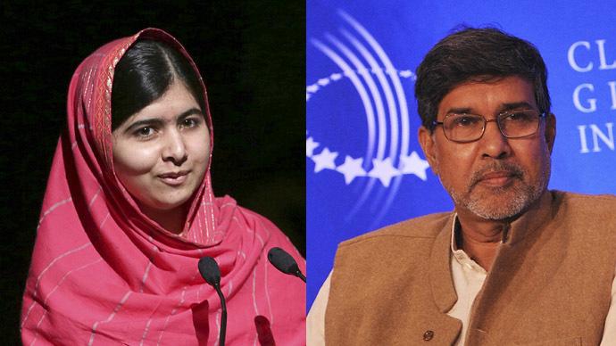 Nobel Peace Prize shared by Malala Yousafzai and Kailash Satyarthi