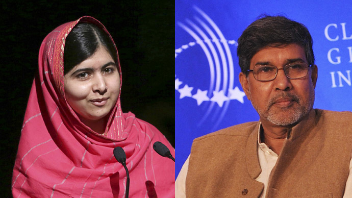 Nobel Peace Prize shared by Malala Yousafzai and Kailash Satyarthi