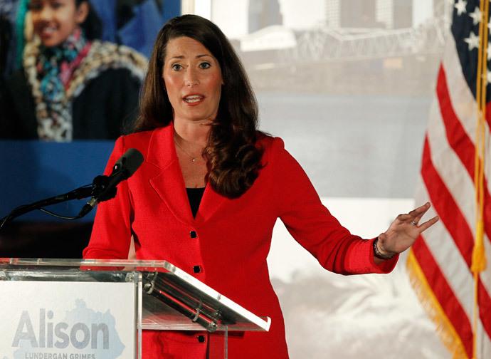U.S. Democratic Senate candidate Alison Lundergan Grimes.(Reuters / John Sommers II)