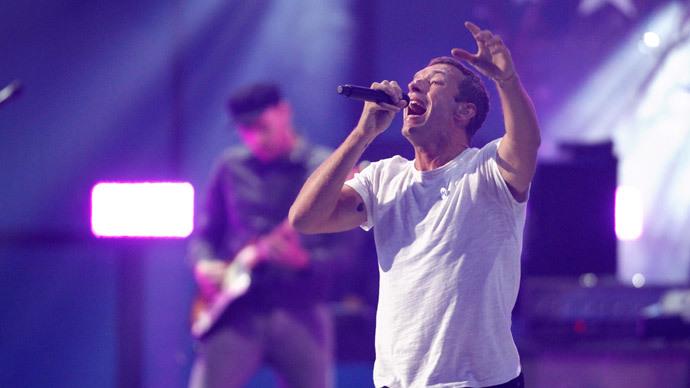 Coldplay lead singer Chris Martin.(Reuters / Steve Marcus )