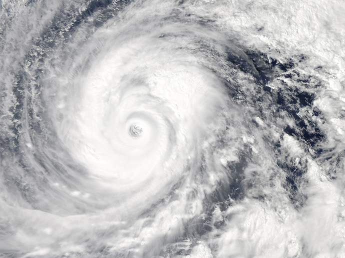 Typhoon Vongfong is seen in the Pacific Ocean as it approaches Japan's main islands on its northward journey, in this Moderate-Resolution Imaging Spectroradiometer (Reuters / NASA / Handout via Reuters)