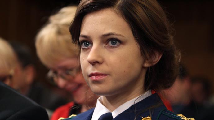 'Prosecutie' Poklonskaya hits right note in Crimean palace (VIDEO)