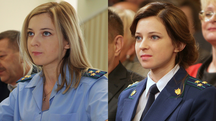 Natalia Poklonskaya, Procurator General of the Republic of Crimea (RIA Novosti / Yuriy Lashov) and (RIA Novosti / Andrey Iglov)