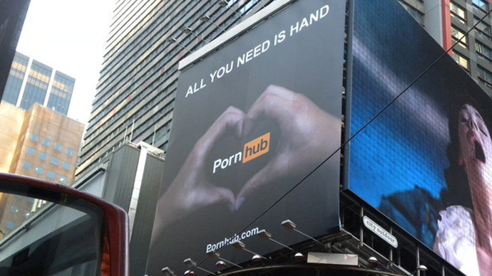 Down and out: Pornhub forced to take down controversial billboard in Times Square