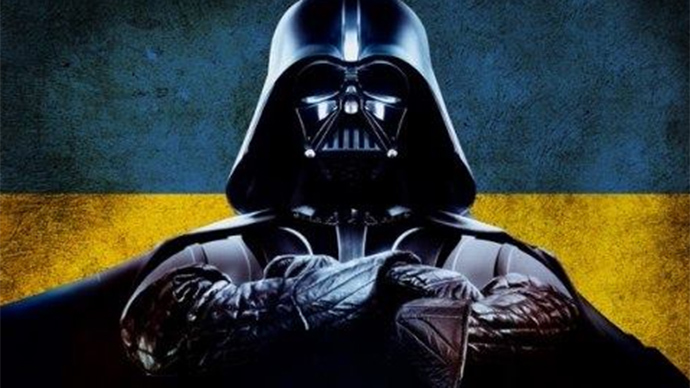 Darth Vader battles babushkas at Ukraine polling station… no light sabers used (VIDEO)