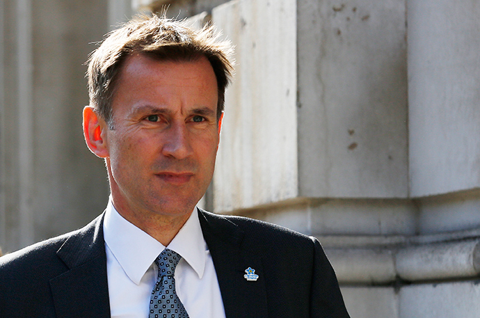 Britain's Health Secretary Jeremy Hunt (Reuters / Luke MacGregor)