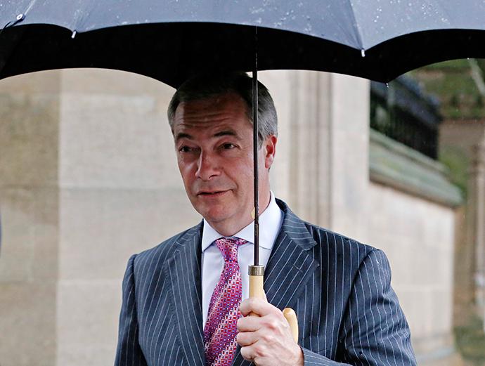 United Kingdom Independence Party (UKIP) leader, Nigel Farage. (Reuters / Luke MacGregor)
