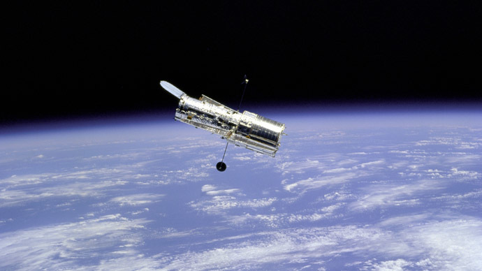Fly around of the Hubble Space Telescope (HST). (Reuters/NASA)