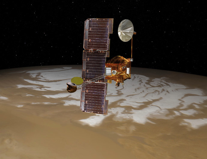 NASA's Mars Odyssey spacecraft. (Reuters/NASA)