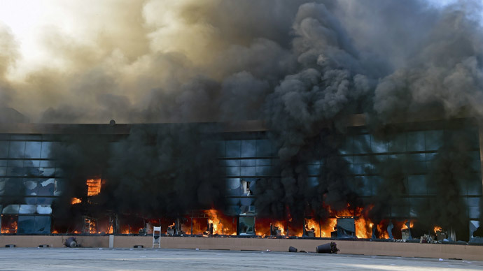 Furious students burn Mexican govt. building in protest over police corruption