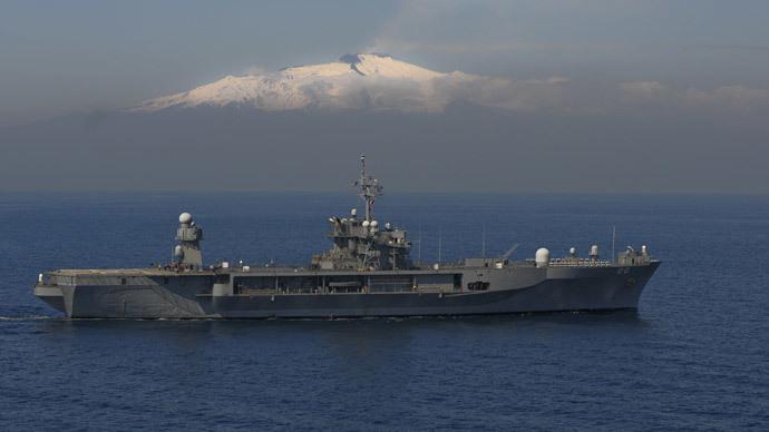 US 6th Fleet flagship docks in Georgia after entering Black Sea