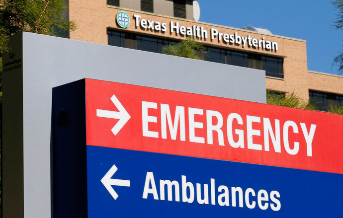 A general view of the Texas Health Presbyterian Hospital is seen in Dallas, Texas.(Reuters / Jim Young)