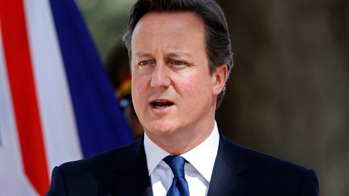 Cameron backs Hong Kong rights, China blocks BBC site