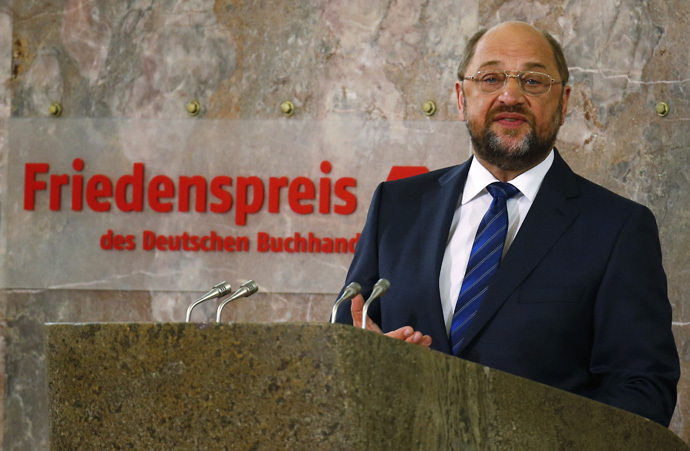 Martin Schulz, president of the European Parliament. (Reuters/Kai Pfaffenbach)