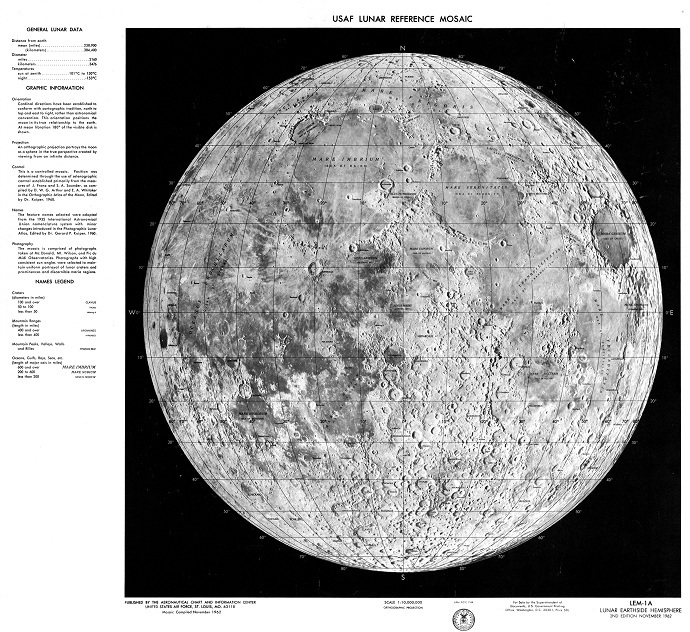 Lunar Reference Mosaic (Image from National Geospatial-Intelligence Agency)
