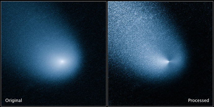 Hubble Space Telescope image of comet Siding Spring taken in March, 2014 (Image from nasa.gov)