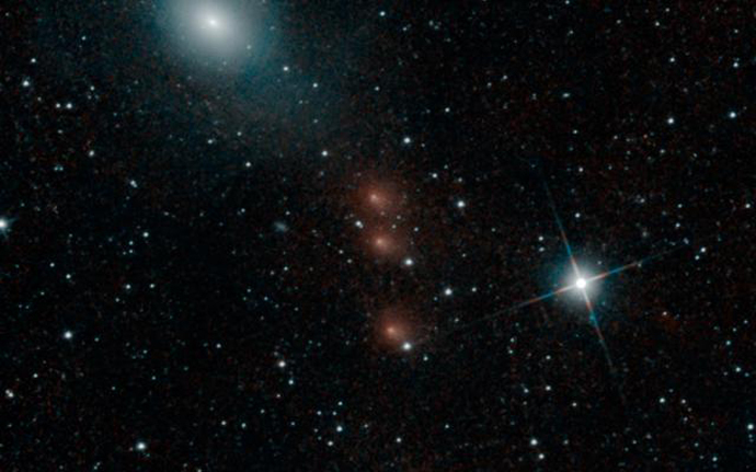 NASA's Neowise space telescope checks on comet C/2013 A1 Siding Spring (Image from nasa.gov)