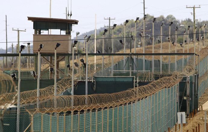 The exterior of Camp Delta is seen at the U.S. Naval Base at Guantanamo Bay. (Reuters/Bob Strong)