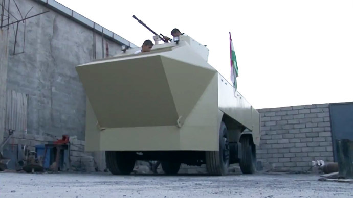 Homemade APC: Iraqi blacksmith builds armored vehicle to fight ISIS (VIDEO)