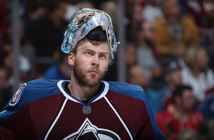 Goalie Semyon Varlamov #1 of the Colorado Avalanche (Doug Pensinger / Getty Images / AFP)