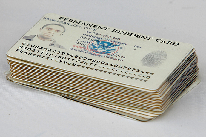 Permanent resident cards (AFP Photo)