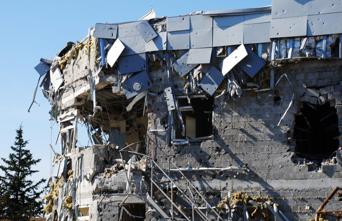 A destroyed building at Donetsk airport. (RIA Novosti / Gennady Dubovoy)
