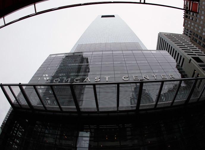 A view of the headquarters of Comcast on JFK Boulevard in Philadelphia, Pennsylvania (Reuters / Tom Mihalek)