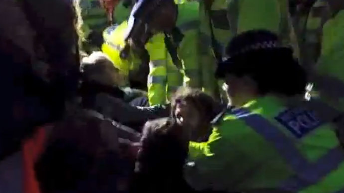 VIDEO: Police clear #OccupyDemocracy protesters from Parliament Square
