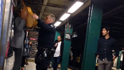 Epic brawl on NYC subway goes viral after 'man slaps soul out of girl' (VIDEO)