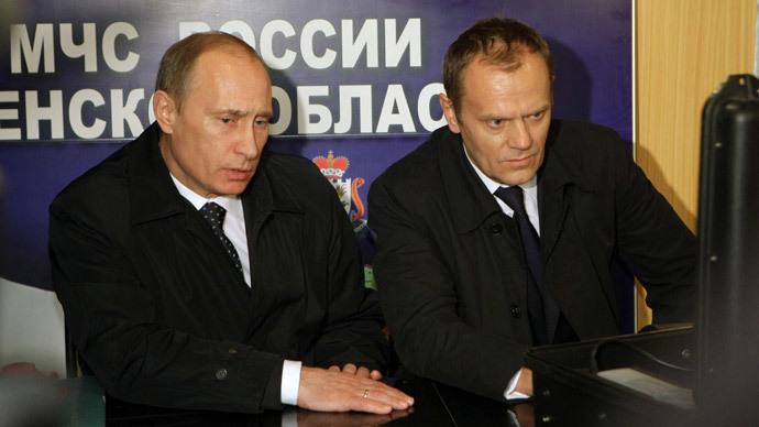 Vladimir Putin and Donald Tusk.(Reuters / Alexei Nikolsky)
