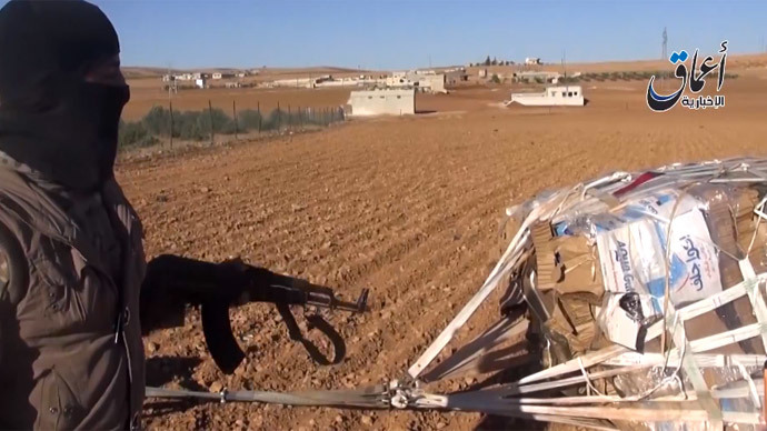 Right into enemy hands? ISIS shows off new weapons allegedly airdropped by US (VIDEO)