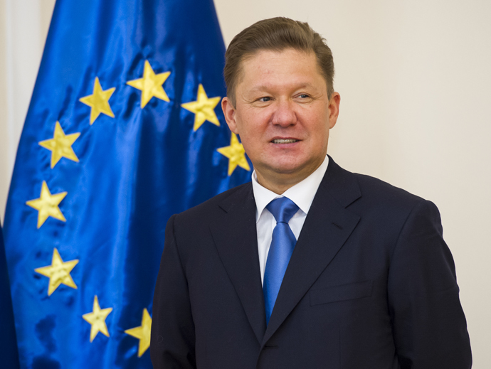 Aleksey Miller, Deputy Chairman of the Board of Directors and Chairman. (AFP Photo)