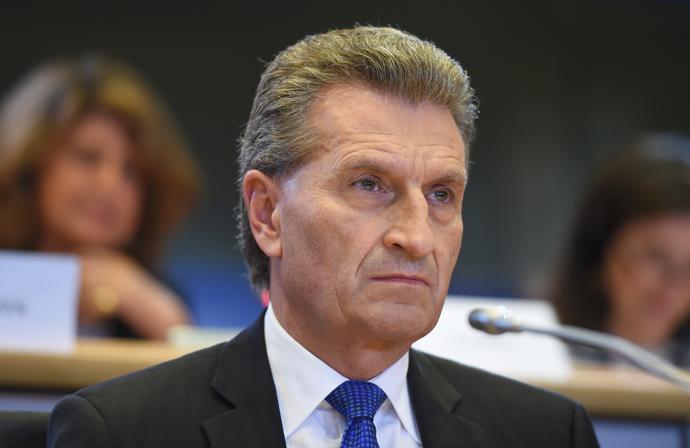 European Commissioner-designate Gunther Oettinger. (AFP Photo/Emmanuel Dunand)